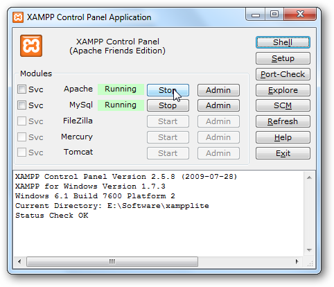 download xampp portable for windows 7