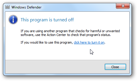 win 7 turn off defender