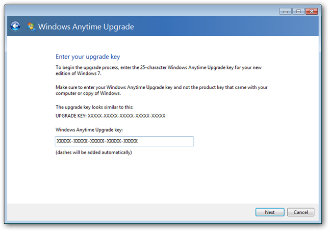 win7 ultimate anytime upgrade key