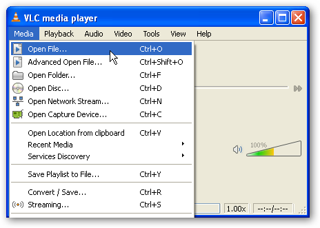Stream Media from Windows 7 to XP with VLC Media Player