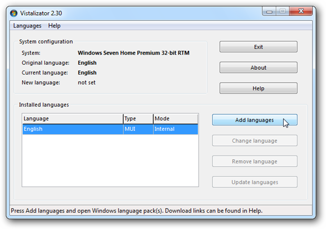 Change the User Interface Language in Vista or Windows 7