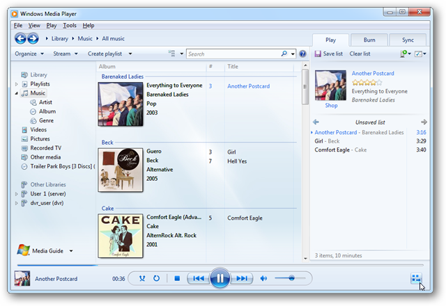 mini lyric windows 7