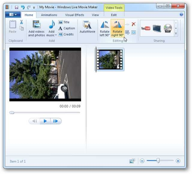 Can you rotate part of a video wo affecting the rest of the windows live movie maker rotate left or right 90 ccuart Image collections