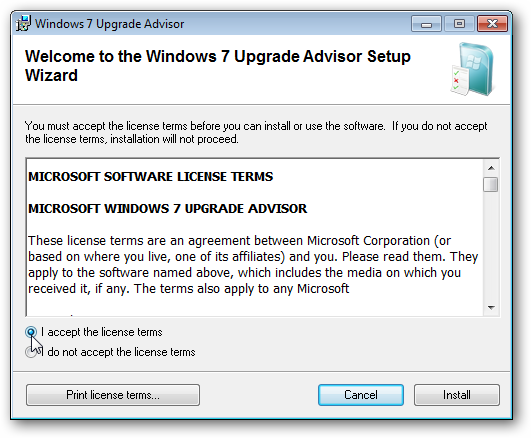 microsoft windows 7 upgrade