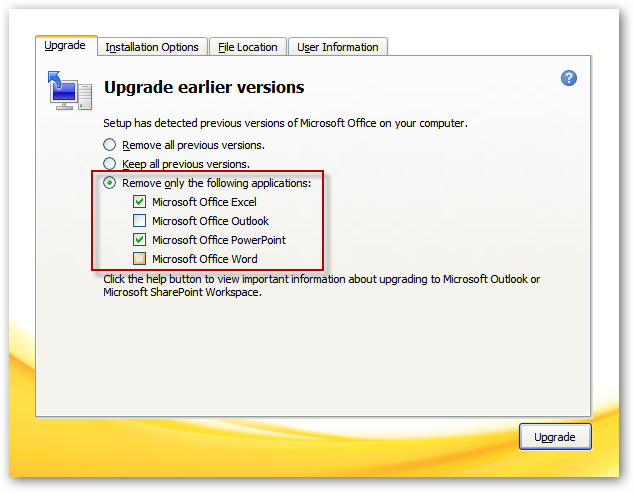 Upgrade Office 2003 to 2010 on XP or Run them Side by Side - Tips