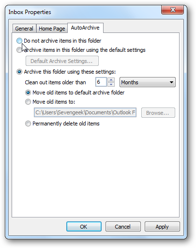 How to Manage AutoArchive in Outlook 2010
