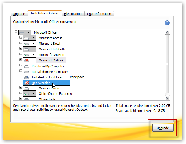 Upgrade Office 2003 to 2010 on XP or Run them Side by Side