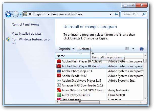 Adobe Flash Activex Control 6.0.0.0