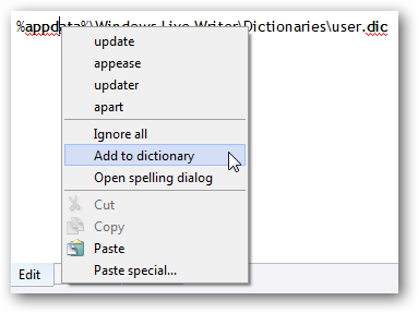 how to save a word custom dictionary