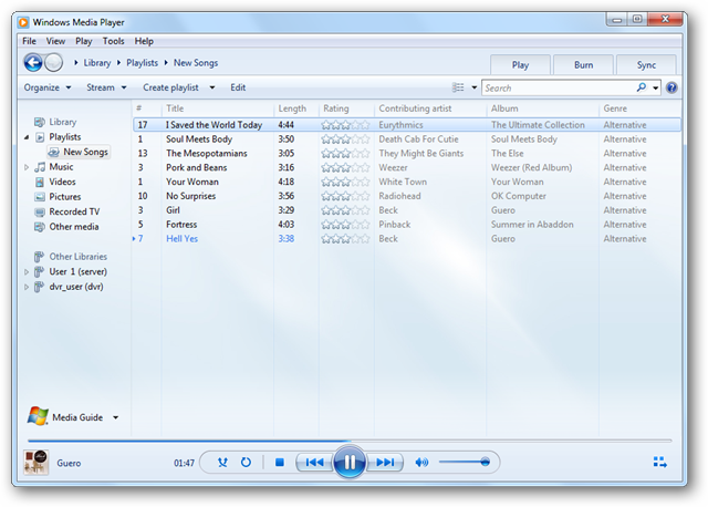 How to Create Auto Playlists in Windows Media Player 12 - Tips