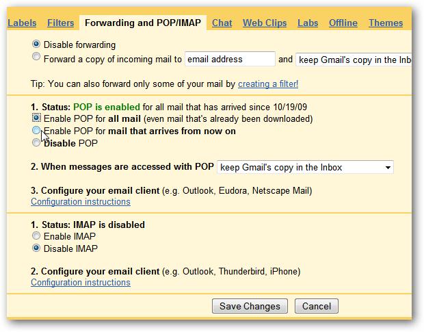 Qysh Me Lidhe Llogarine e Gmailit me Outlook 2010?