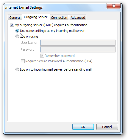 gmail pop3 and smtp settings for outlook 2010