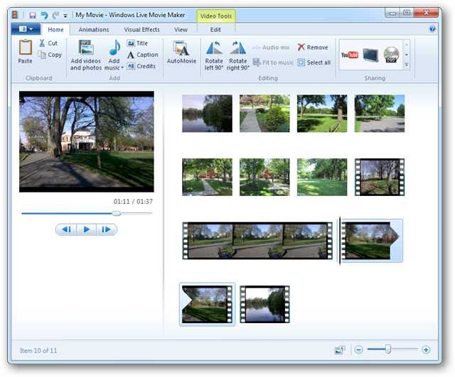 how to cut middle of video movie maker