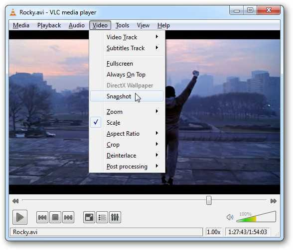 take snapshots of your favorite movie scenes in vlc