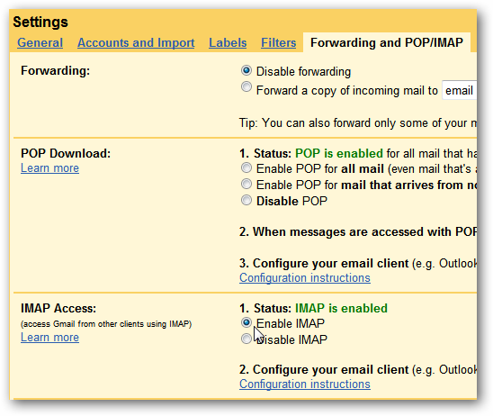gmail on outlook 2010