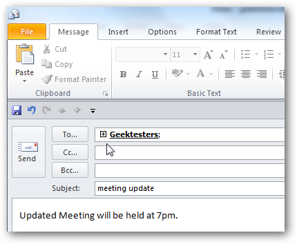 how to create mailing list in outlook 2010