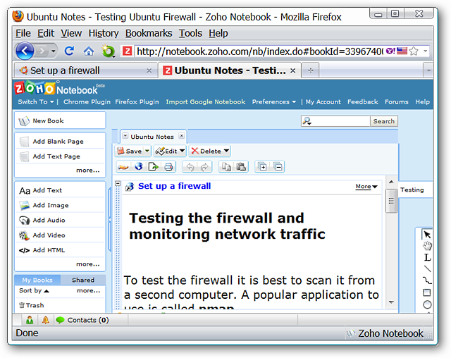 Add Notes to Zoho Notebook in Firefox - Tips general news