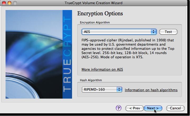 encrypt options