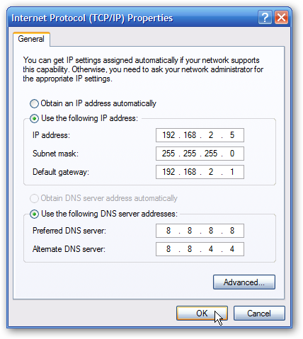 how to create a static ip address in windows 7