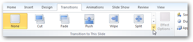 Add Transitions to Slideshows in PowerPoint 2010 - Tips