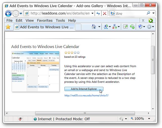 how to backup windows live calender evnts