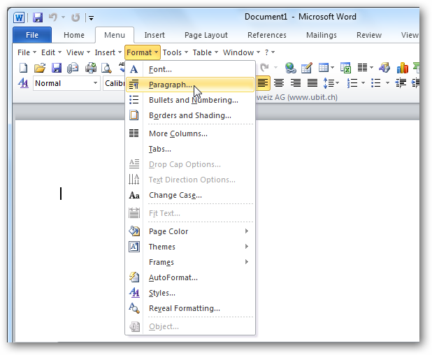 Bring Office 2003 Menus Back to 2010 with UBitMenu