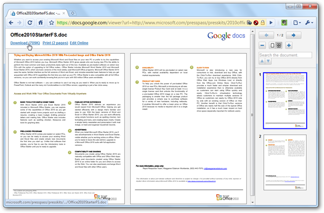 View Docs and PDFs Directly in Google Chrome