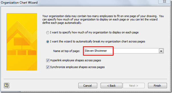 Build an Organization Chart In Visio 2010