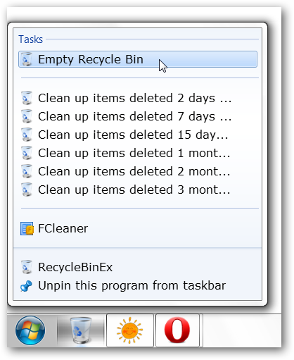 how to set up recyclebin to delete after certain days