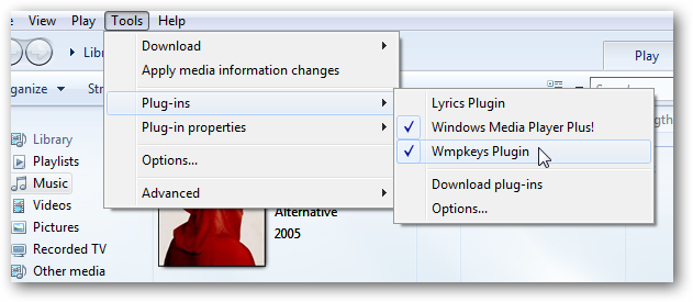 Add Global Hotkeys to Windows Media Player