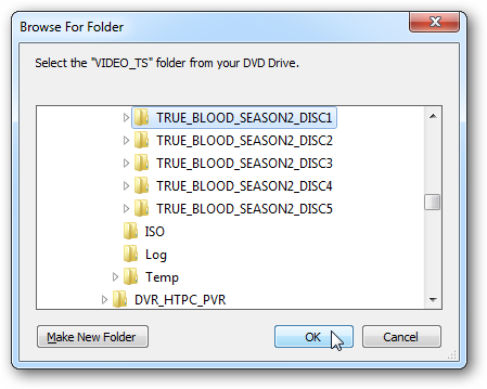 Rip a TV Series DVD and Convert to Individual H 264 MP4 files