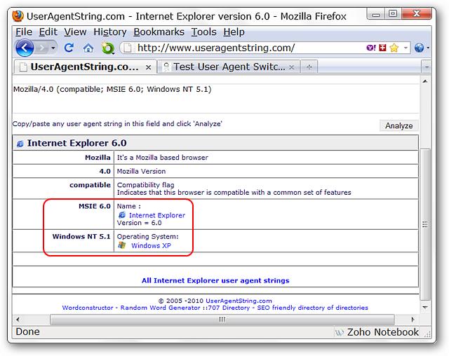 internet explorer user agent