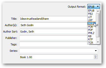 calibre how to send converted file to ereader
