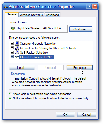How to find ip address of computer windows xp