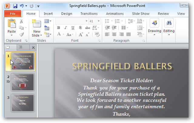 Add Transitions to Slideshows in PowerPoint 2010