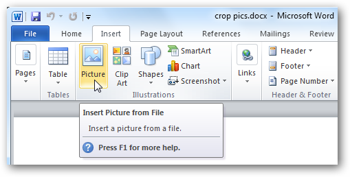 How To Crop Pictures In Word Excel And Powerpoint 2010