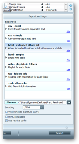 Tag and Rename Music with TagScanner