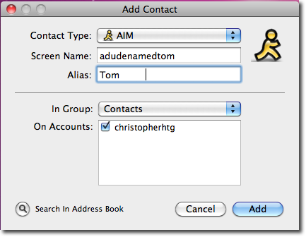 add contact info