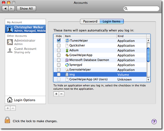 mac how to mount a network drive on startup