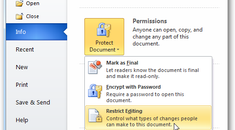 Add Security to Your Important Documents in Office 2010
