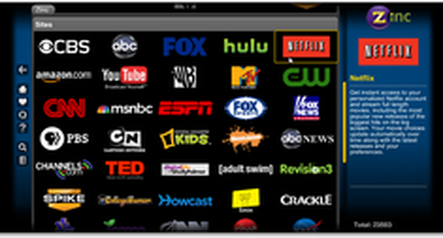 Watch Netflix Instant Streaming Content Through Zinc TV