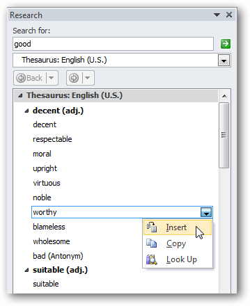 Beginner Geek: Use the Thesaurus and Dictionary in Word for