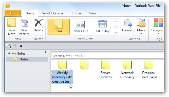 outlook how to add delete to email list pane