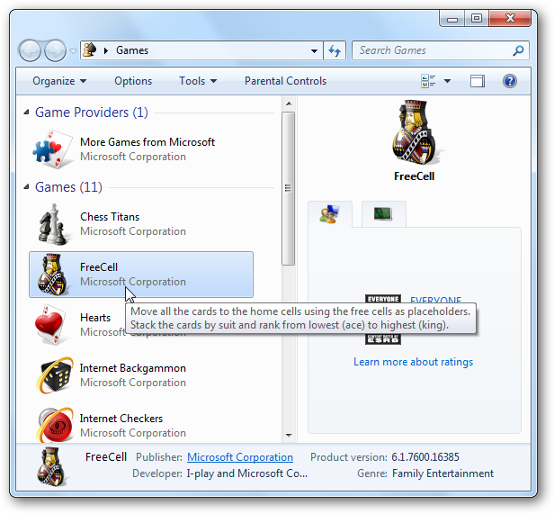 Quick Tip: Turn Off Games in Windows 7