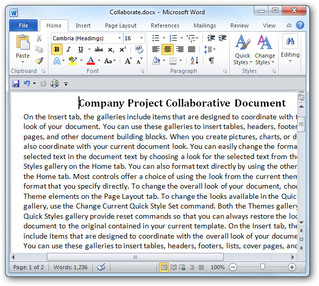 Customize the Default Line Spacing in Word 2007 & 2010