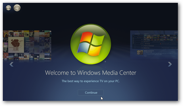 Windows 7 media center