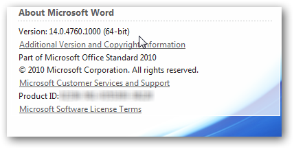 How Do I Know if I'm Running 32-bit or 64-bit Office 2010
