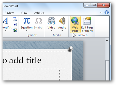 how to put a pdf page into a power point