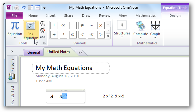 how to change equation font in word 2016