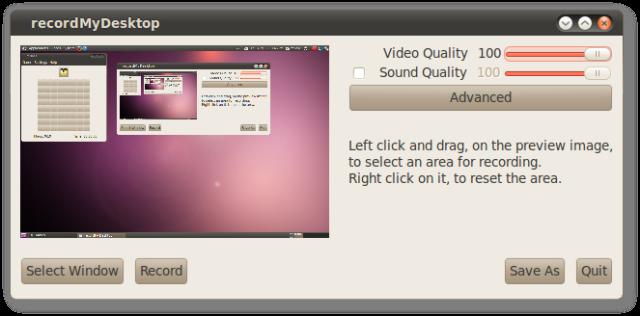 Record Screen Activity in Ubuntu with RecordMyDesktop